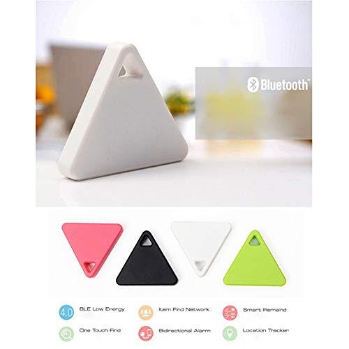 fang FANS Neue Bluetooth Smart Mini GPS Tracker Kinder Haustiere Brieftasche Schlüssel Alarm Locator Echtzeit Alarmr Schlüsselsucher (White)