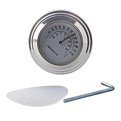 22-25 mm wasserdichte Motorradlenkerhalterung Temp Thermometer Zubeh/ör KIMISS Lenkerthermometer Schwarz