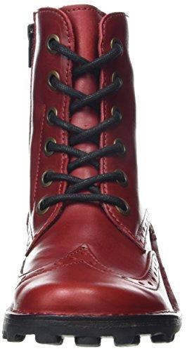 FLY London Marl Damen Kurzschaft Stiefel Rot (Red 003)
