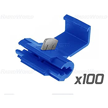 100x Blue Scotch Lock Wire Connectors Quick Splice Terminals Crimp Wiring Quick Connectors on