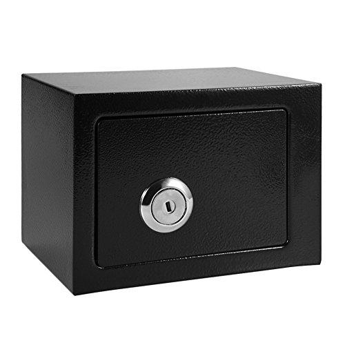 Caja de seguridad caja, alta seguridad acero caja fuerte de pared caja fuerte con cerradura dinero caja de seguridad con 2llaves para oficina en casa Hotel  W230mm X d173mm X H170mm)
