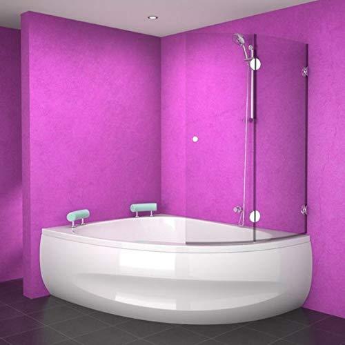 Set ⇒ Badewanne 140x140 SAMOS mit Badewannenaufsatz + Montagezubehör