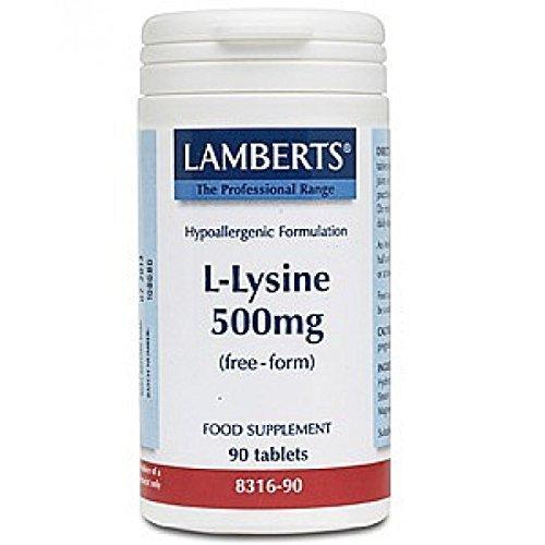 41paAfs1iFL. SS500  - Lamberts L-Lysine 500mg