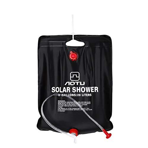 WINLISTING Vatertag Tragbare Dusche Heizung Pipe Bag Solarwarmwasserbereiter Outdoor Camping Camp 20L (Schwarz) - Heizung Handwerk