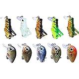 Best Crapet leurres - Bomcomi 10PCS Mini 3D Fish Eyes Treble Crochet Review