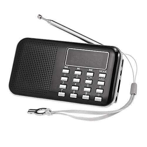 Docooler mini fm radio altoparlante digitale portatile y-896 da 3 w altoparlante mp3 lettore audio ad alta fedeltà qualità audio con schermo da 2 pollici supporto usb carta tf aux-in uscita cuffia