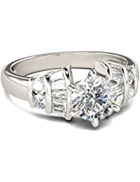 Naitik Jewels 925 Sterling Silver Antique Beautiful Wedding & Engagement Ring For Women