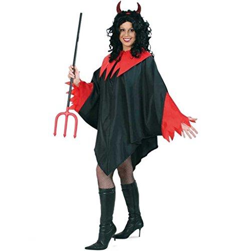 KarnevalsTeufel Kostüm Diavolo Teufels-Umhang für Erwachsene Unisex 1-TLG. Umhang - Diavolo Kostüm