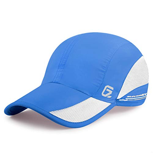 GADIEMENSS Quick Dry Sports Hat Lightweight Breathable Soft Outdoor Running Cap (Classic UP, Blue)