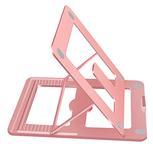 CCVVB Laptop-Halterung Kühlregal Lazy Lift Aluminiumlegierung Desktop erhöhte Basis Falten tragbare verstellbare Halterung Unterstützung (Farbe : B) -