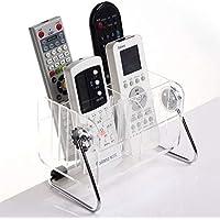 Shopais 6-Slot Clear Acrylic Home Desk Tv Air-Conditioner Remote Control Storage Holder Organizer Stand