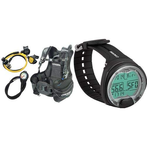 Cressi Tauch Start Scuba Diving Set + Leonardo - Premium Tauchcomputer