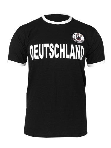 Alemania retro Camiseta en camiseta Look con Stick Escudo