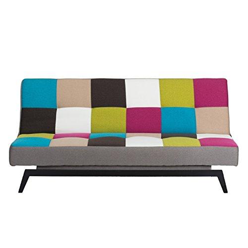 Schlafsofa - Gästebett - Bezug Stoff in bunt (multicolor)