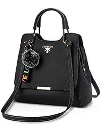 NICOLE & DORIS Sac Branché pour bureau dames Sac à bandoulière multi-compartiments sac à main sac bandoulière Noir IRoKsFw2zL