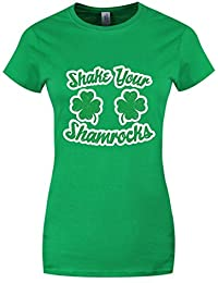 Grindstore Women's ST Patrick's Day Shake Your Shamrocks T-Shirt Green