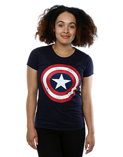 Captain America Distressed Logo Frauen-T-Shirt (Captain T-shirt T-shirt America)