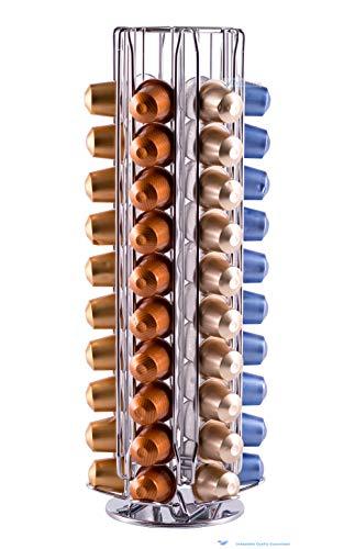 Drehbarer Kapselhalter spender für 60 Nespresso Kaffeekapseln von unübertrefflicher Qualität|...