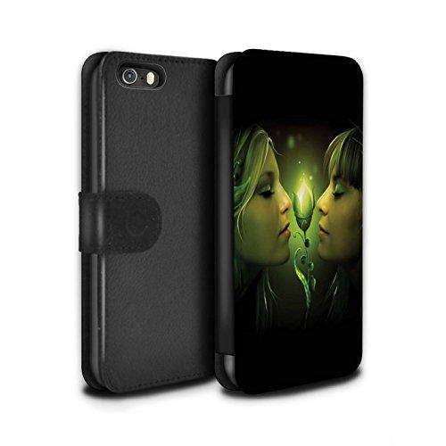 Officiel Elena Dudina Coque/Etui/Housse Cuir PU Case/Cover pour Apple iPhone 5/5S / Verre brisé Design / Art Amour Collection Relation amicale