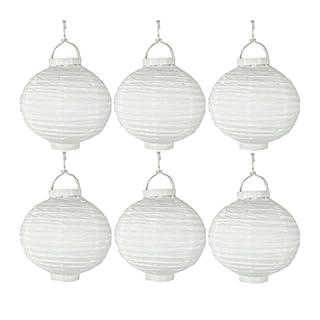Annastore 6 Stück Lampions aus Papier mit LED-Licht, batteriebetrieben