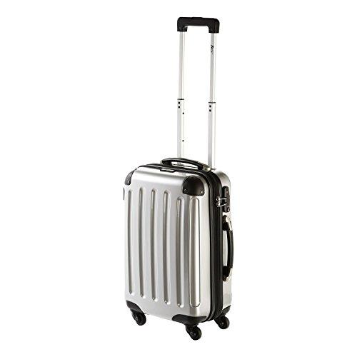IMEX 4 Rollen Koffer Trolley Hartschale New York mit TSA-Schloss in Bording Size (Silber)