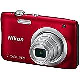CAMARA DIGITAL NIKON COOLPIX A100 ROJA - 20.1MPX - ZOOM OPTICO 5X - TFT 2.7/6.7CM - VIDEO 720P HD - ESTABIL. DIGITAL - SD - BAT