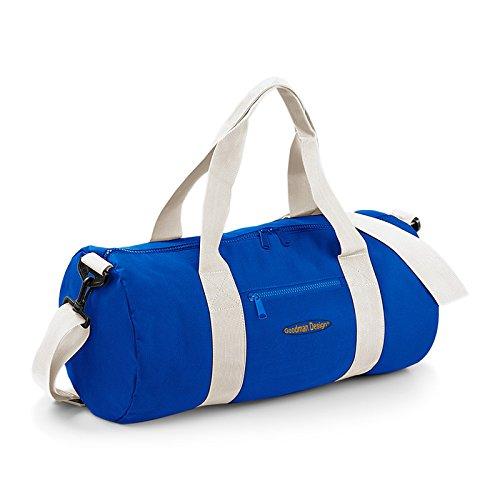 Preisvergleich Produktbild Sporttasche, robust und strapazierfähig! Umhängetasche für Urlaub, Sport und Freizeit! Small, Goodman Logo, Royal Blau