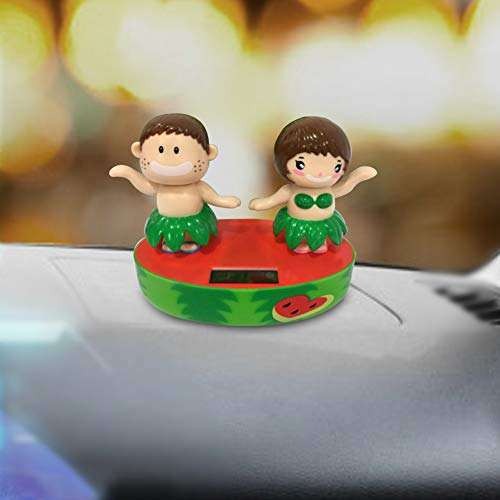 MYGYSJK Kreatives Solar-Spielzeug für Baby, Auto, mit Klappe und Schaukel - Multi