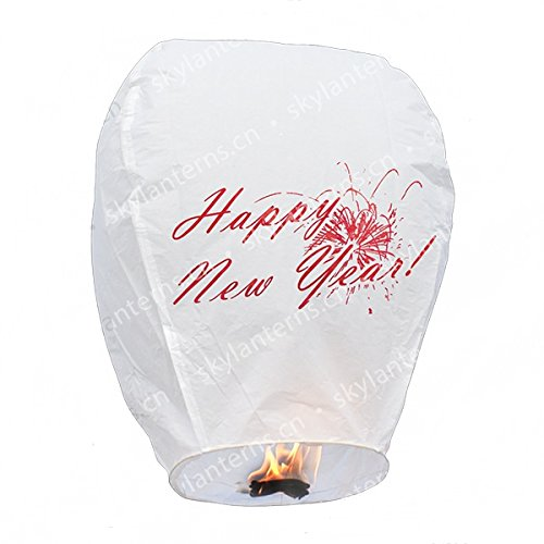ZZCDDZ 10 Pack Chinese Sky Lanterns for Christmas 100/% Biodegradable Eco Friendly Wish Party /&Weddings Flame-Retardant Materials red, L Red New Years Eve