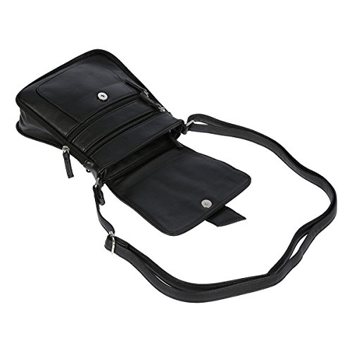 Praktische Schultertasche Umhängetasche Tasche 18 x 20 x 2,5 bis 7,0 cm Dark Taupe