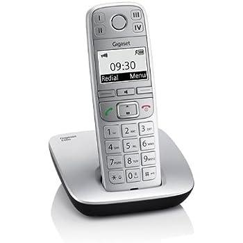 Gigaset  E500 Téléphone sans fil DECT/GAP Mains-libres Métal