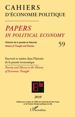 Pauvreté et misère dans l'histoire de la pensée économique par Various Authors