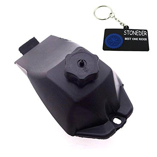 stoneder schwarz Kunststoff Gas Petrol Fuel Tank für 2Takt 47cc 49cc chinesische mini Moto Quad 4Wheeler Dirt Bike Minimoto Kinder Atv