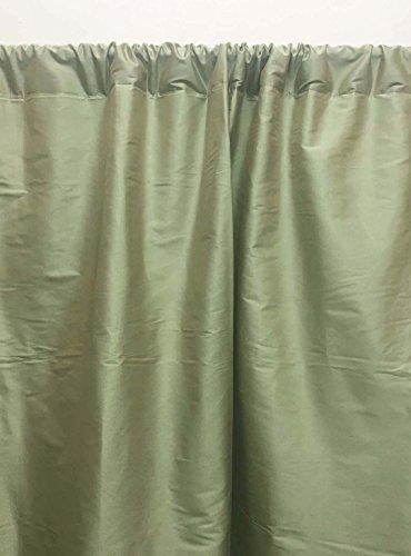 Dupioni Seide (Craftbot Dupioni Vorhang für Fenster oder Tür, Seide, einfarbig, 132 x 213,4 cm, Olivgrün 52x84 Light Olive Green)