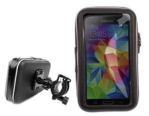 DURAGADGET vous présente ce support et étui résistant à l'eau pour votre téléphone Samsung Galaxy S5.  En plastique transparent, cet étui pratique vous permet d'utiliser votre téléphone lors de vos ballades en vélo. Idéal pour utiliser votre téléphon...
