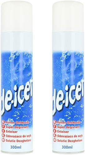 com-four® 2X Enteiserspray Auto - Scheibenenteiser Spray - Eisspray für Autoscheiben - Enteiser für Zuhause und unterwegs (02 Stück - Enteiser)