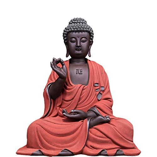 Baijdery Decoracion Escultura Amitabha De Cerámica, La Artesanía De Buda De Buda, Sala De Estar De Regalo, Decoración De Mesa De Muebles para El Hogar