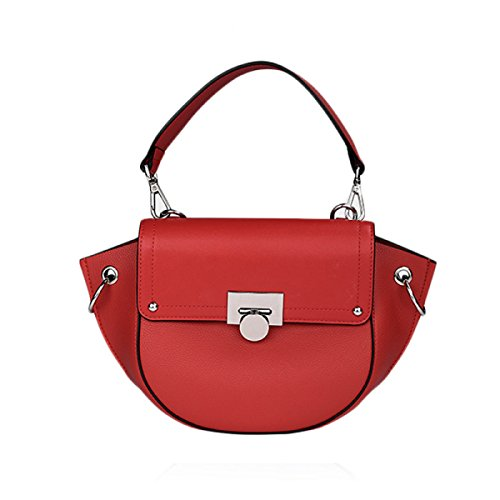 Wings-stoff Red (Damentasche Schultertasche Fashion Wing Bag Ms. Messenger Tasche,Red-32*18*10cm)