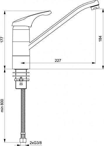 ideal standard k chenarmatur melostart f r vorfenstermontage. Black Bedroom Furniture Sets. Home Design Ideas