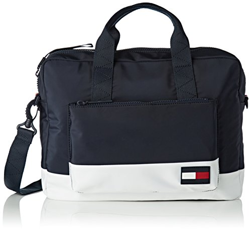 Tommy Hilfiger Herren Escape Computer Bag Laptop Tasche, Blau (Corporate), 9x31x40 cm