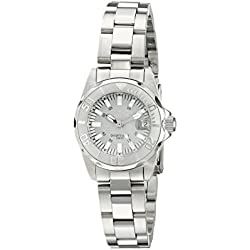 Invicta 7066 27mm Silver Steel Bracelet & Case flame fusion Women's Watch