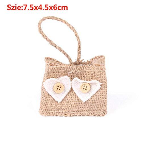 RDPSA Kordelzug Geschenk-Taschen Wedding Favor Taschen für Blumen-Mädchen Natürliche künstliche Blumen-Mädchen-Korb für Hochzeitsdekoration