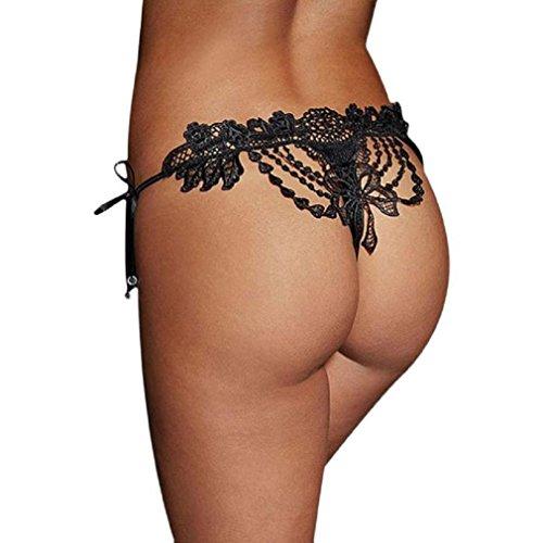 Baonoop Women's Underwear Knickers Lace, black