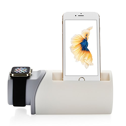 nexgadget 2 in 1 ladestation stand f r iwatch und iphone halterung f r apple watch und iphone. Black Bedroom Furniture Sets. Home Design Ideas