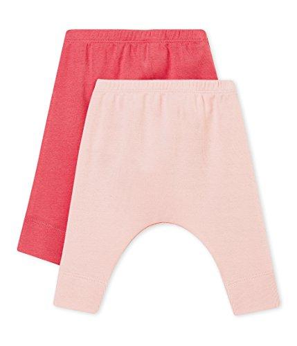 Petit Bateau Baby-Mädchen Leggings Caleçon Long_4565499, 2er Pack, Mehrfarbig (Variante 2 99), 62 (Herstellergröße: 3M/60cm) (Petite-leggings)