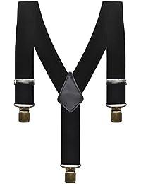 f290d4cd5c0d Mens Black 5 cm Clip on Y-Shaped Adjustable Trouser Braces Suspenders