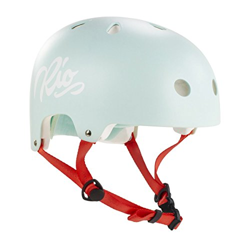 Rio Roller Script Helm hellgrün teal, L/XL (57-59 cm)