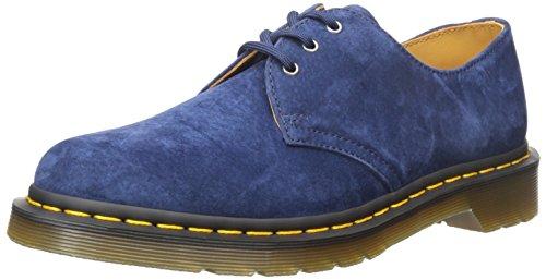 Dr. Martens Unisex Adults' 1461 Indigo Soft Buck Derbys, Blue (Indigo), 8...