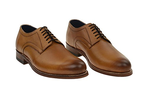 Gordon & Bros Herrenschuhe Levet 2320 Klassischer rahmengenähter Schnürhalbschuh mit Derbyschnürung und Schuhspanner im Geschenkset Tan