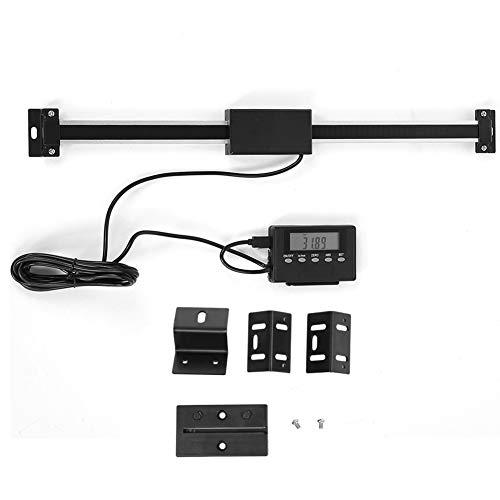 Akozon Digitalanzeige 0-300mm Präzise Digital LCD Skala Linear Scale für Fräsmaschinen -
